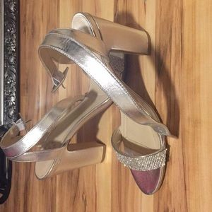 Shoes - rhinestone heels